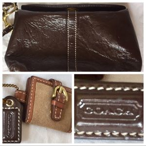 Authentic Coach Brown Designer Wristlet/Wallet